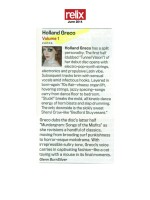 Relix Magazine Reviews Volume One