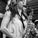Allison Piccioni on sax at The Village